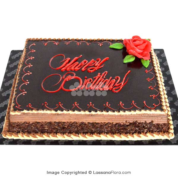 BIRTHDAY CHOCOLATE FUDGE CAKE 2Kg (4.4lbs) - Lassana Cakes - in Sri Lanka