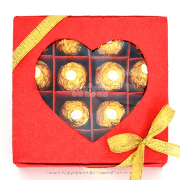 HEART IN YOUR HANDS FERRERO CHOCO BOX - Gift Packs - in Sri Lanka