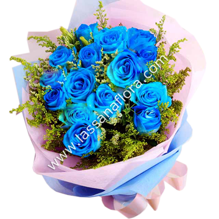 SPRAYED BLUE ROSE BOUQUET - Birthday - in Sri Lanka