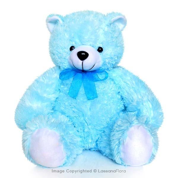 """BLUE TEDDY BEAR - 12"""" - Soft Toys - in Sri Lanka"""