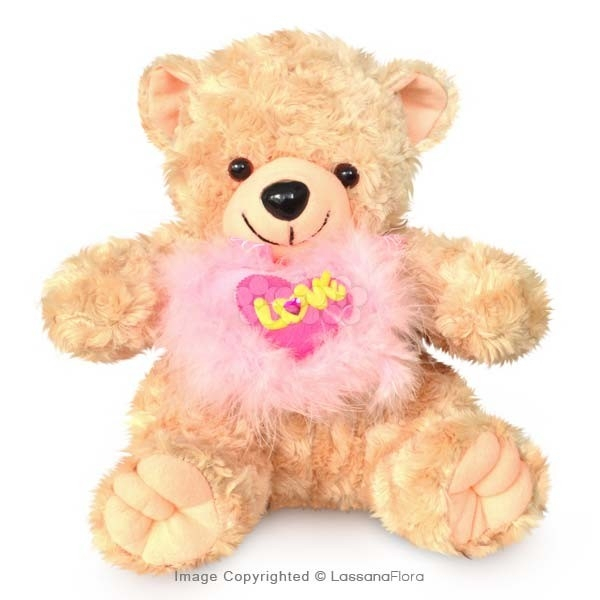 BROWN BEAR WITH LOVE HEART - Soft Toys - in Sri Lanka