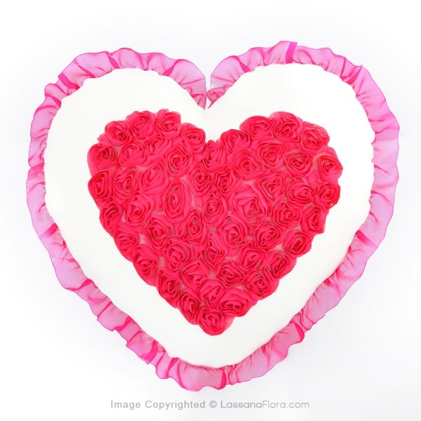 ROSE HEART PILLOW - Cushions & Pillows - in Sri Lanka