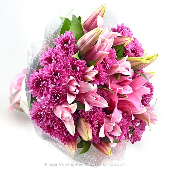 PINK SURPRISE ( Pink Lilies) - Birthday - in Sri Lanka