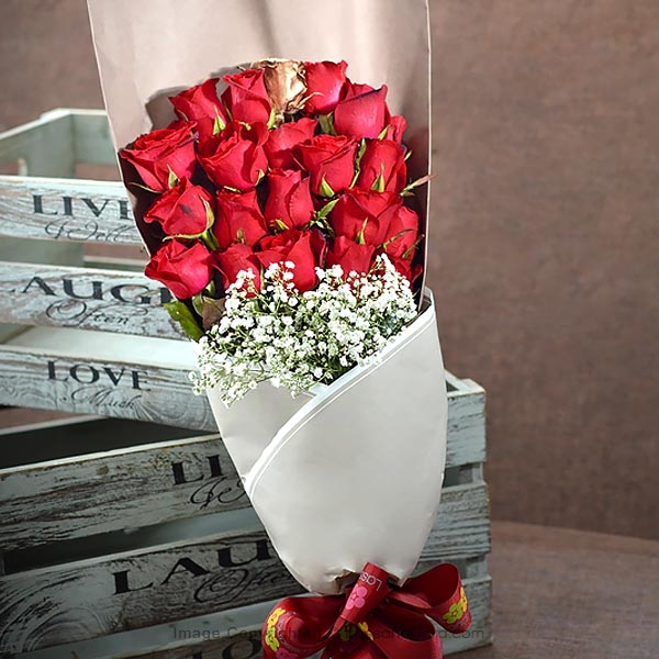 21 RED ROSES BUNCH - Love & Romance - in Sri Lanka