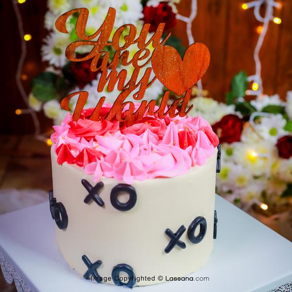 YOU ARE MY WORLD CAKE - 1KG (2.2lbs) - Lassana Cakes - in Sri Lanka