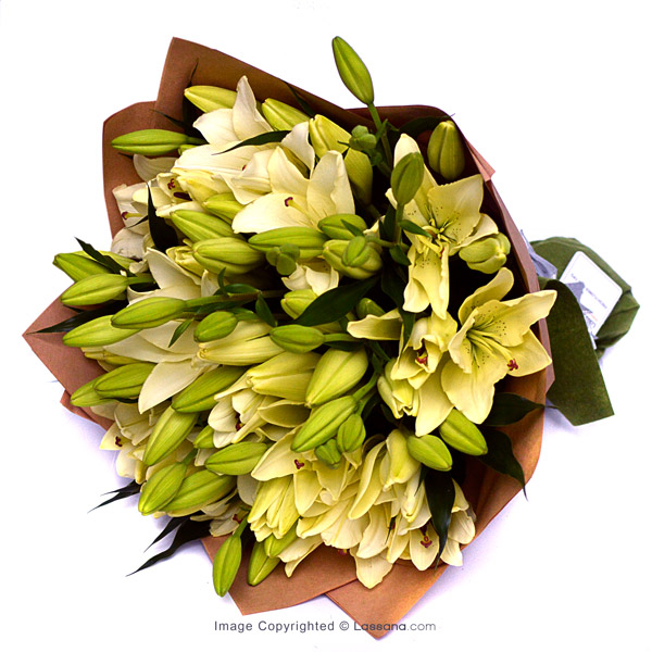 WHITE LILIES (10 STEMS) - Lovely Lilies - in Sri Lanka