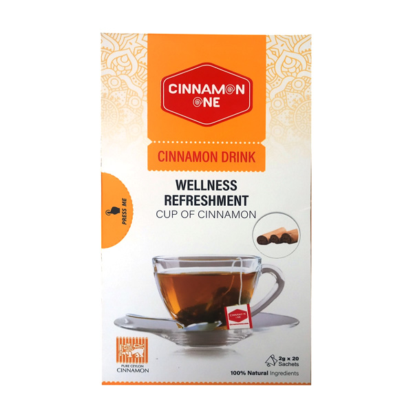 CINNAMON TEA WITH 20 SACHET PACKETS - CONVENTIONAL 40G - Beverages - in Sri Lanka