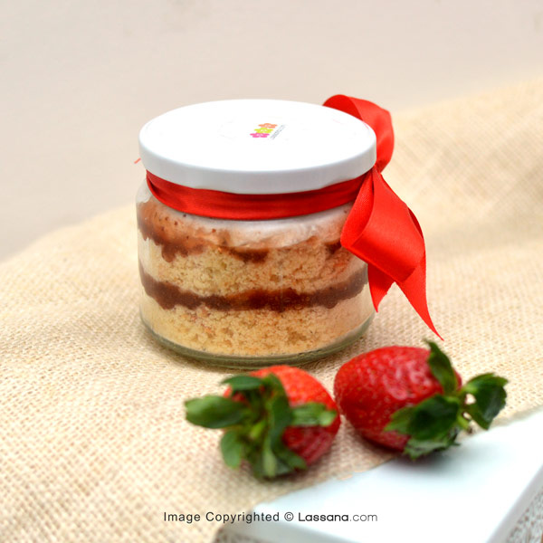 STRAWBERRY & CREAM CAKE JAR - Lassana Cakes - in Sri Lanka