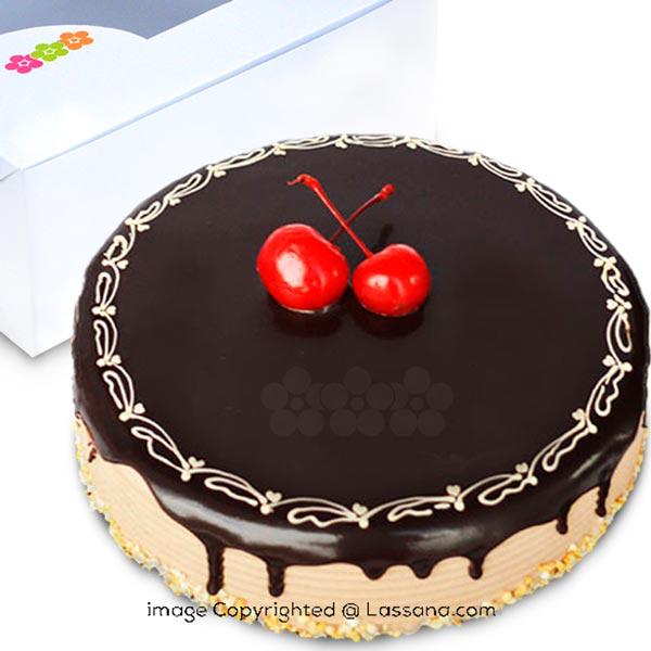 CHOCOLATE ROUND FUDGE CAKE 1Kg (2.2 lbs) - Lassana Cakes - in Sri Lanka