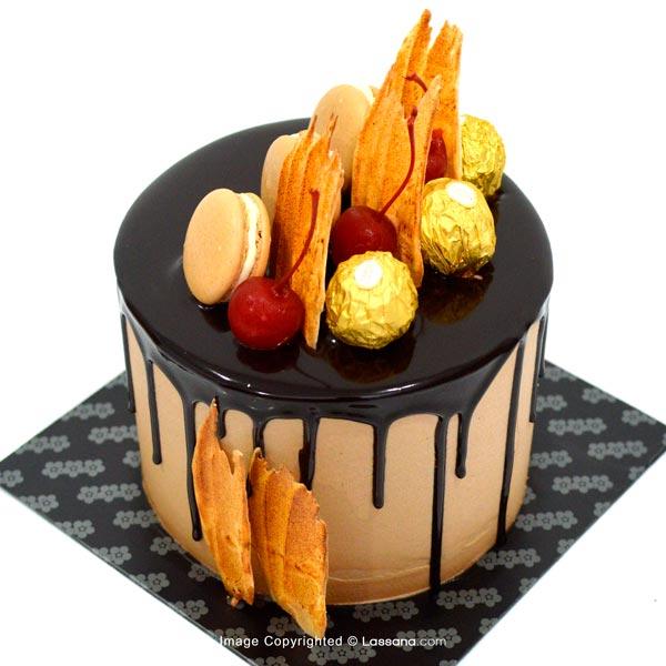 DRIP CHOCOLATE CAKE - 1Kg (2.2lbs) - Lassana Cakes - in Sri Lanka