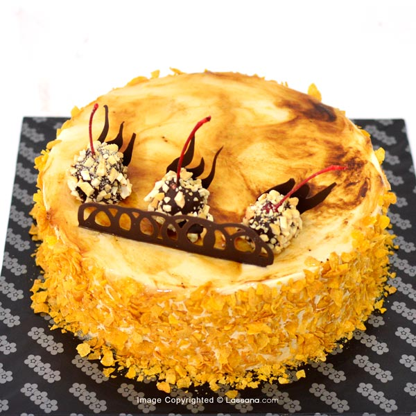 LOW-SUGER COFFEE CAKE - 1KG (2.2 lbs) (Free Flower Bunch) - Lassana Cakes - in Sri Lanka