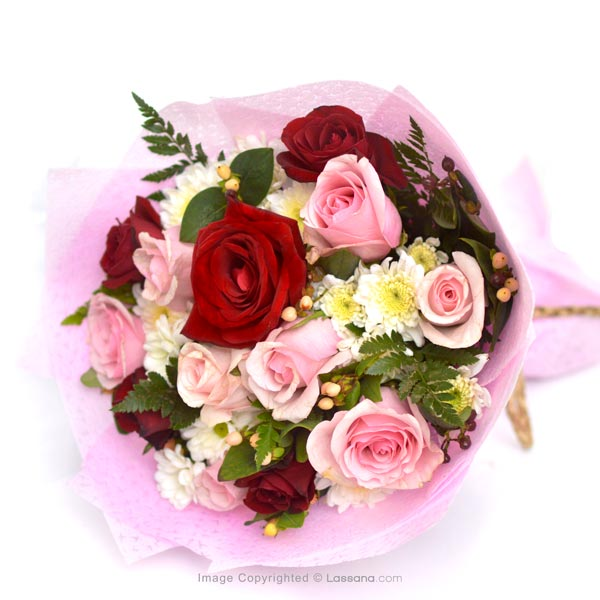 YOU'RE BEAUTIFUL - RED & PINK ROSES - Birthday - in Sri Lanka