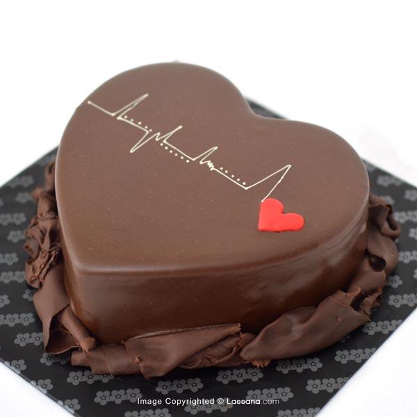 HEARTBEAT CHOCOLATE CAKE - 1kg (2.2lbs) - Lassana Cakes - in Sri Lanka