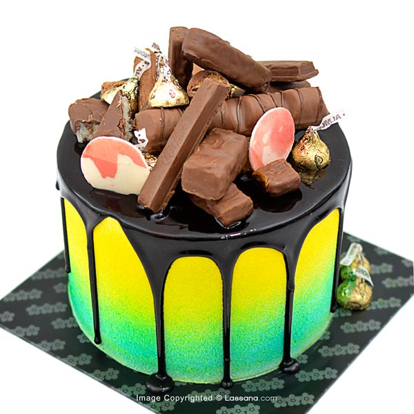 CHOCOLATE CANDY DRIP CAKE - 1.5kg (3.3lbs) - Lassana Cakes - in Sri Lanka