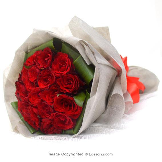 LUXURY ROSE BOUQUET - 20 RED ROSES - Love & Romance - in Sri Lanka
