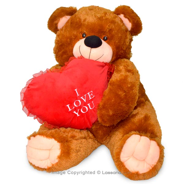 DOUBLE XL TEDDY WITH LOVE HEART - Soft Toys - in Sri Lanka