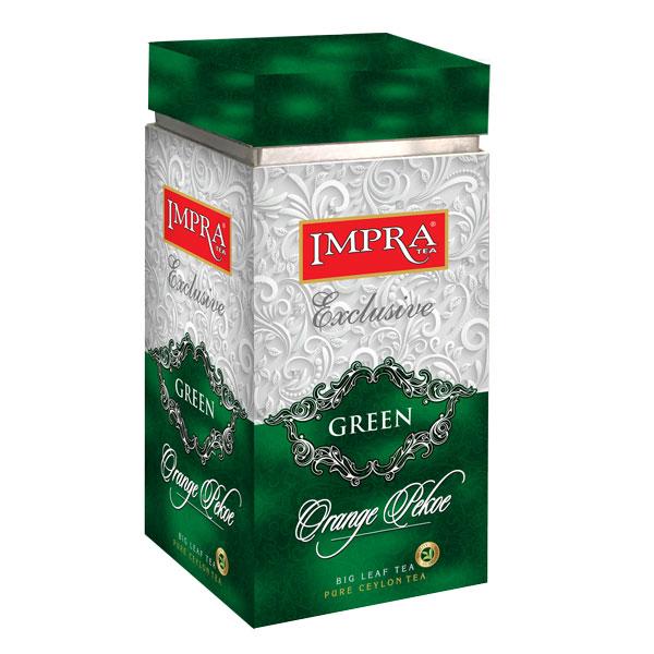 GREEN TEA BIG LEAF MEATAL CADDY 200G - Beverages - in Sri Lanka