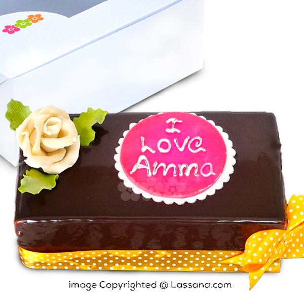I LOVE AMMA CHOCOLATE LOAF 1Kg (2.2 lbs) - Lassana Cakes - in Sri Lanka