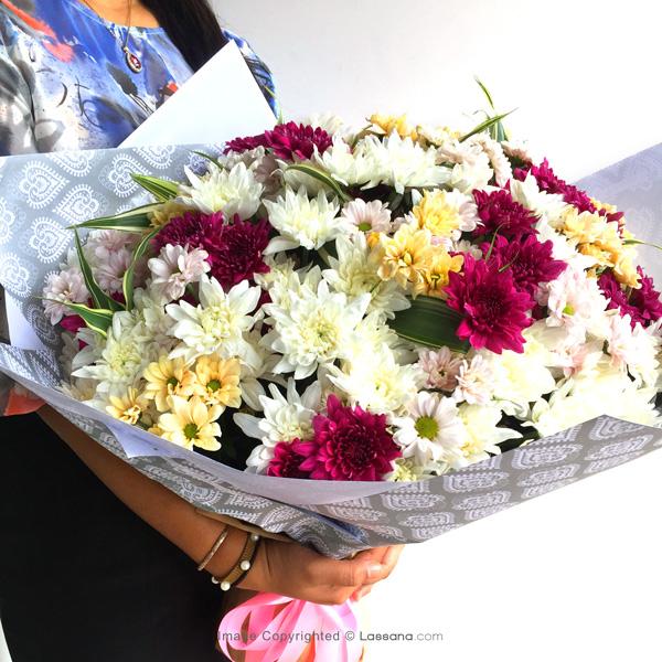 CHARMING LOVELY CHRISHANTHI BUNCH - Exotic Chrysanthemums - in Sri Lanka