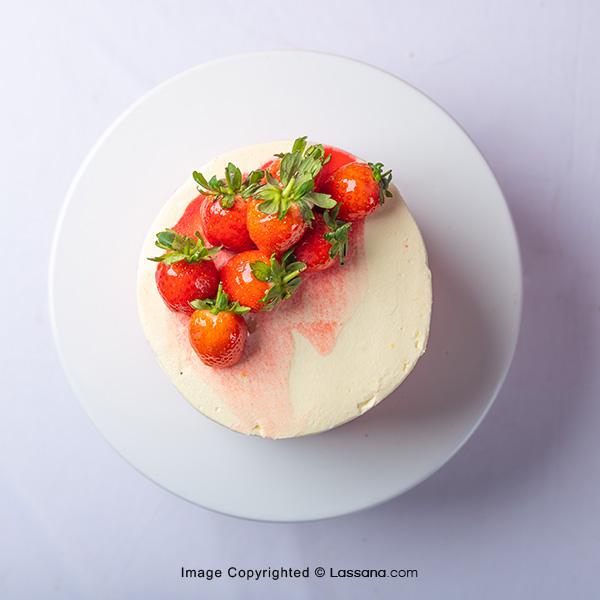 STRAWBERRY HEAVEN RIBBON CAKE 1KG (2.2LBS) - Lassana Cakes - in Sri Lanka