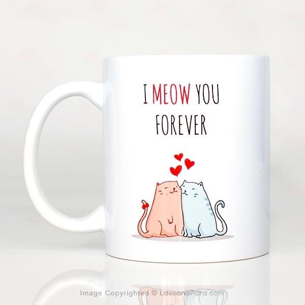 Valentine's Day Mug - 06 (I MEOW YOU) - Mugs - in Sri Lanka