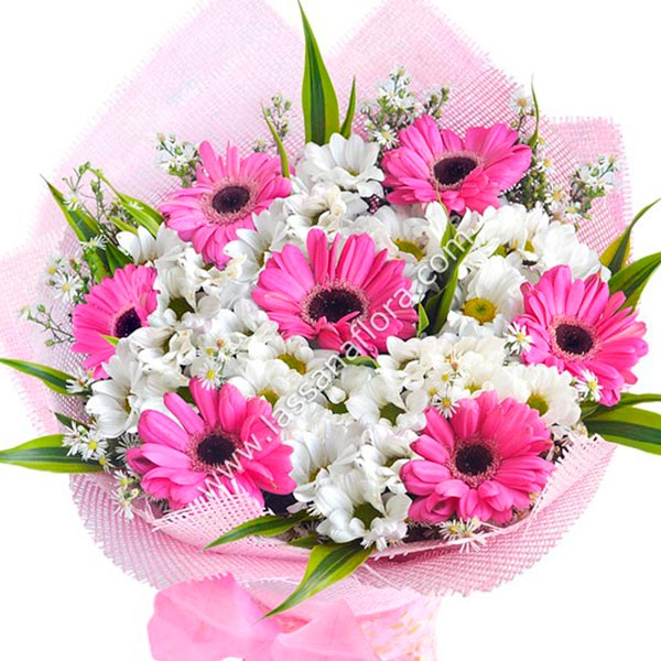 PINK RADIANCE HAND-TIED BOUQUET - Congratulations - in Sri Lanka
