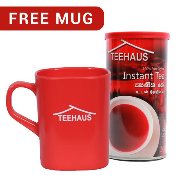 TEEHAUS CEYLON INSTANT TEA POWDER METAL TIN 200G WITH FREE MUG - Beverages - in Sri Lanka