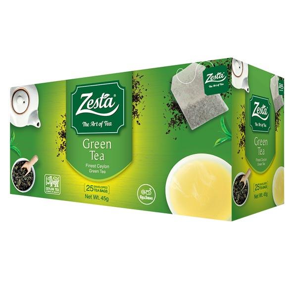 ZESTA GREEN TEA 25 TEA BAGS 45G - Beverages - in Sri Lanka