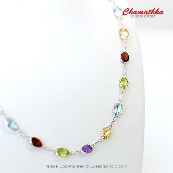 Chain with Semi Precious Stones - Women - in Sri Lanka