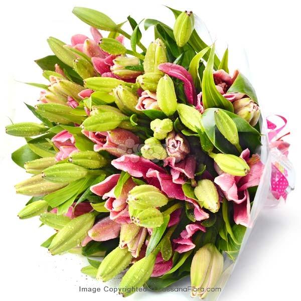Pink Buddies ( Pink Lilies ) - Love & Romance - in Sri Lanka