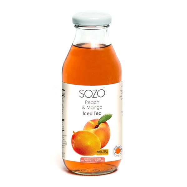 SOZO ICED TEA  - PEACH & MANGO 350 ML - Beverages - in Sri Lanka