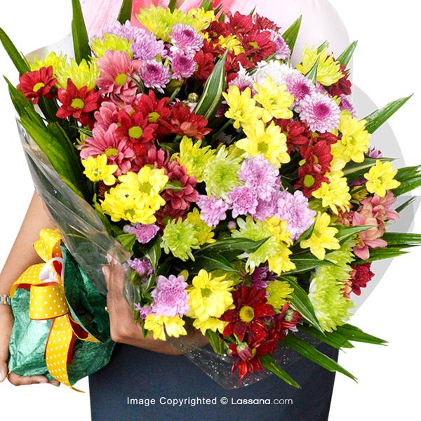 COLOURFUL CHRYSANTHEMUM BOUQUET - Exotic Chrysanthemums - in Sri Lanka