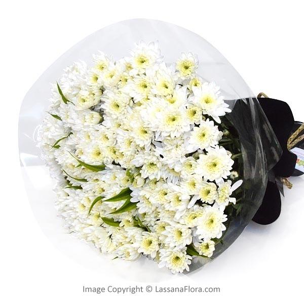 WHITE ANGEL CHRYSANTHEMUM BUNCH - Exotic Chrysanthemums - in Sri Lanka