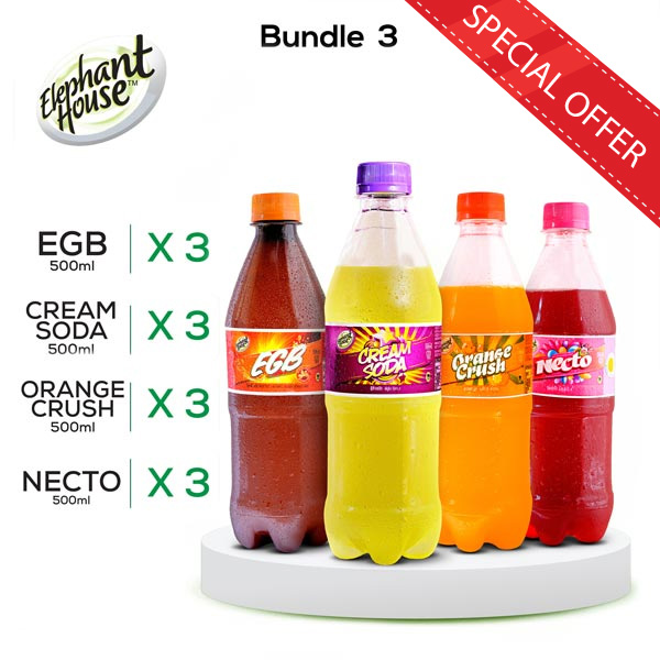 ELEPHANT HOUSE SOFT DRINKS - PACK 03 - Beverages - in Sri Lanka