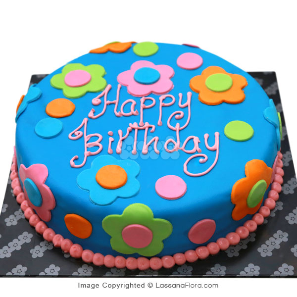 HER FLORAL BIRTHDAY CHOCLATE CAKE 1Kg (2.2 lbs) - Lassana Cakes - in Sri Lanka