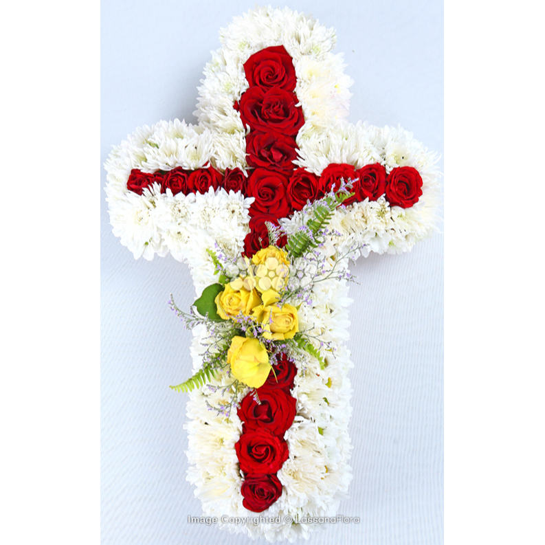 CROSS TYPE WREATH 2 - Sympathy - in Sri Lanka