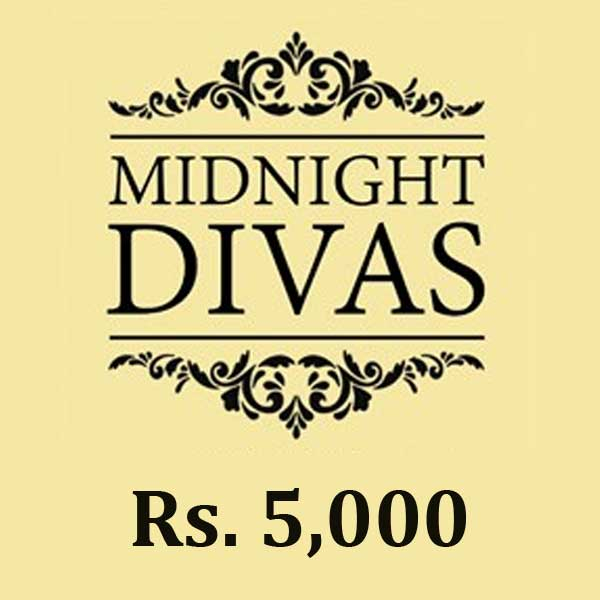 MIDNIGHTDIVAS GIFT VOUCHER - RS. 5,000 - Clothing & Fashion - in Sri Lanka