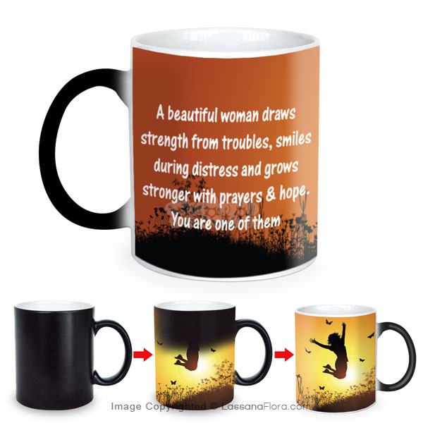 A BEAUTIFUL WOMAN MAGIC MUG - Mugs - in Sri Lanka
