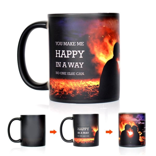 YOU MAKE ME HAPPY MAGIC MUG - Mugs - in Sri Lanka