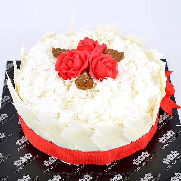 ROSES BLANC WHITE FOREST GATEAU 1 KG (2.2 lbs) - Lassana Cakes - in Sri Lanka