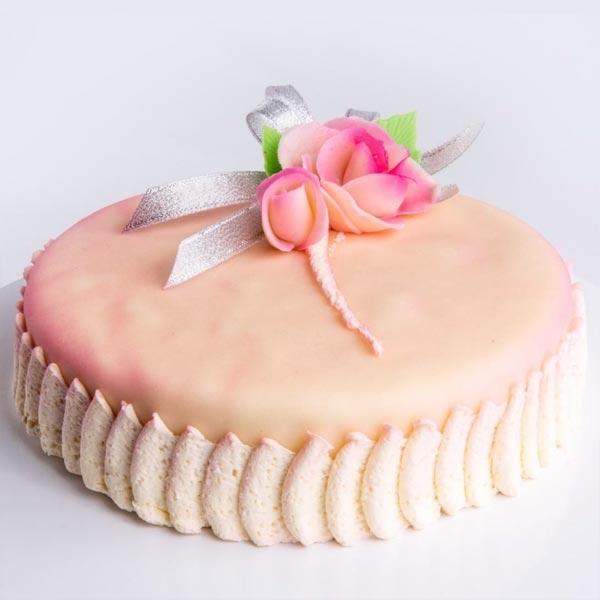 HILTON RIBBON CAKE MAZIPAN COVERED- 1 KG - Hotel cakes - in Sri Lanka