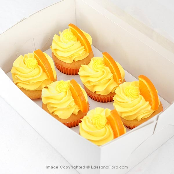 PACK OF ORANGE CUPCAKES (06 PCS) - Lassana Cakes - in Sri Lanka