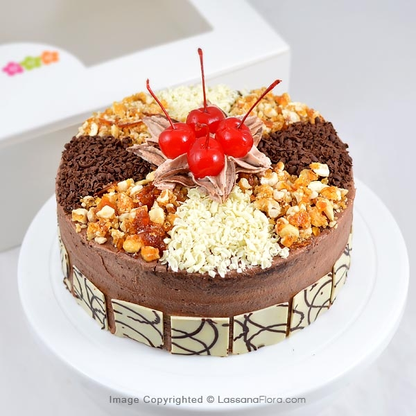 NOUGATINE PARFAIT GATEAU 1Kg (FREE FLOWER BUNCH) - Lassana Cakes - in Sri Lanka