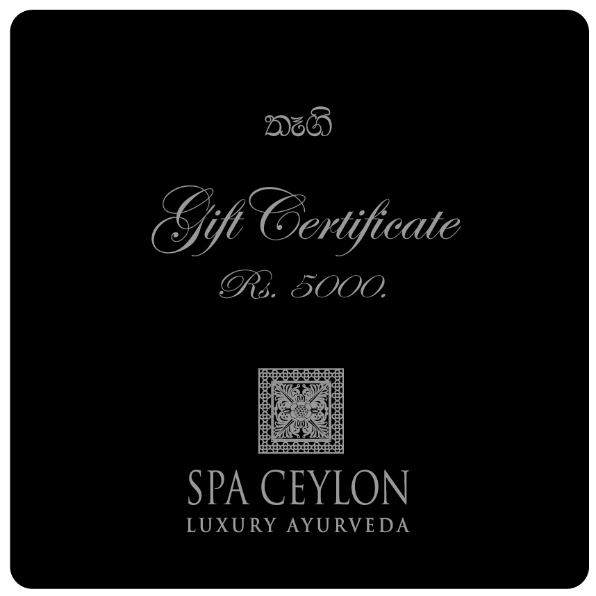 SPA CEYLON GIFT VOUCHER-RS.5000 - Spa & Saloon - in Sri Lanka