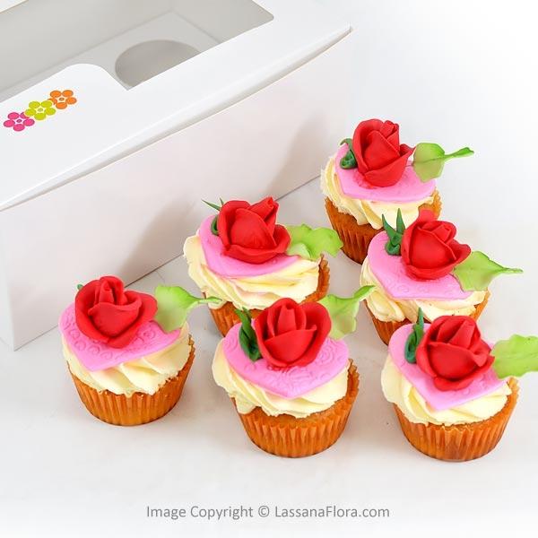 ROSE PETAL VANILA CUPCAKE (06 PCS) - Lassana Cakes - in Sri Lanka