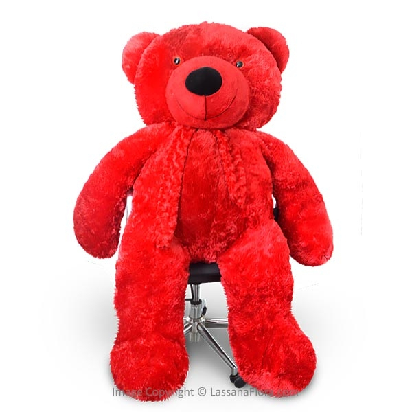 LIFE SIZE TEDDY (RED) -5 FT - Soft Toys - in Sri Lanka