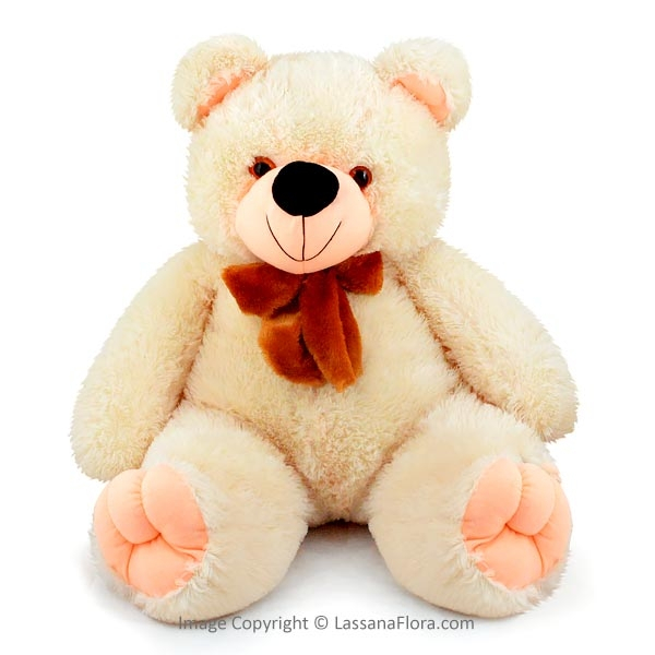 CREAM COLOR XXL TEDDY - 2.5FT - Soft Toys - in Sri Lanka