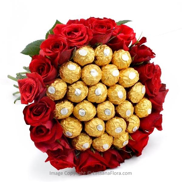 BIG BUNCH OF CHOCOLATES AND ROSES - Chocolates & Cookies - in Sri Lanka