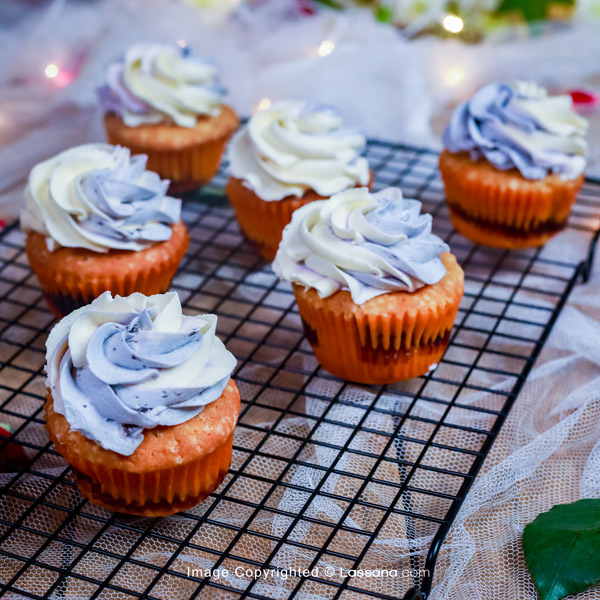 BLUEBERRY DELIGHT CUPCAKE - (06 PCS) - Lassana Cakes - in Sri Lanka