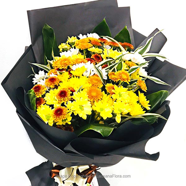 Yellow Chryshanthemum Bunch - Love & Romance - in Sri Lanka